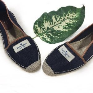 Kate Spade Denim Signature Loafers